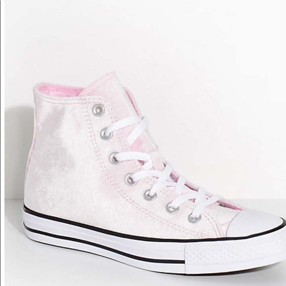 Converse Shoes | Velvet Baby Pink High